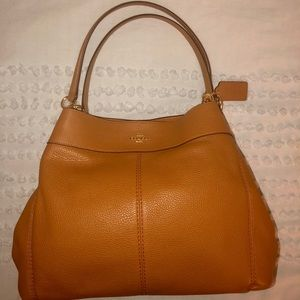 Light brown, authentic COACH bag with dust bag